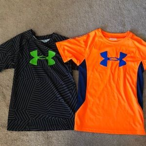 Boys UA Heat Gear tops